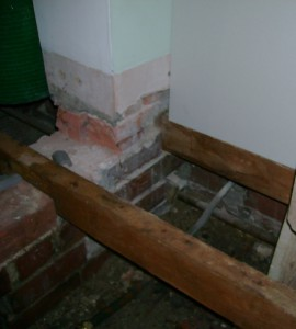 This lead pipe is the mains supply for the house.